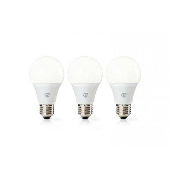 Žiarovka LED E27 9W teplá biela NEDIS WIFI 3ks