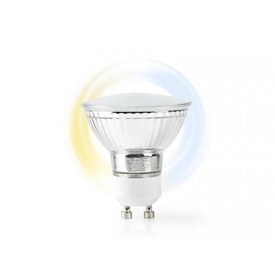 Múdra WiFi žiarovka LED GU10 5W biela NEDIS WIFILW10CRGU10 SMARTLIFE