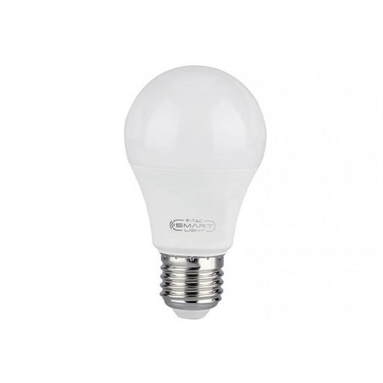 Múdra WIFI žiarovka LED E27 10W V-TAC RGB 3v1 VT-5119