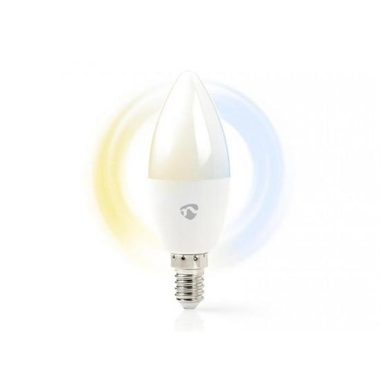 Múdra WiFi žiarovka LED E14 4.5W biela NEDIS WIFILW13WTE14