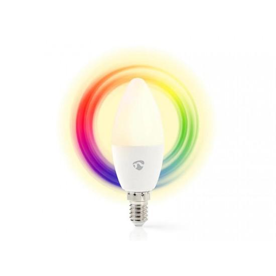 Múdra WiFi žiarovka LED E14 4.5W RGB NEDIS WIFILC11WTE14