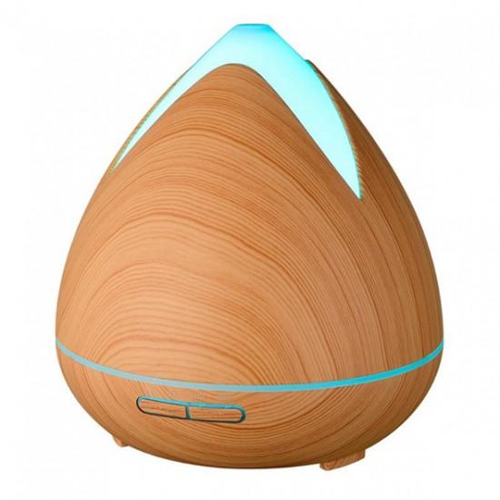 Aroma difuzér 02 svetlé drevo - ultrazvukový, 7 farieb LED