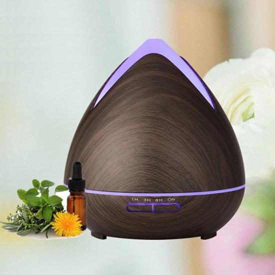Aroma difuzér 02 tmavé drevo - ultrazvukový, 7 farieb LED