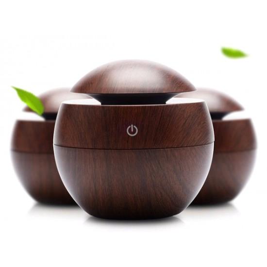Aroma difuzér Y01 tmavé drevo - ultrazvukový, USB