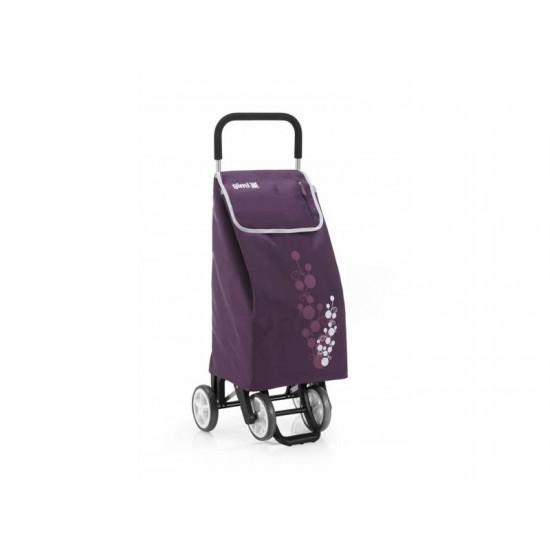 Vozík nákupný GIMI TWIN fialový 56L 154319