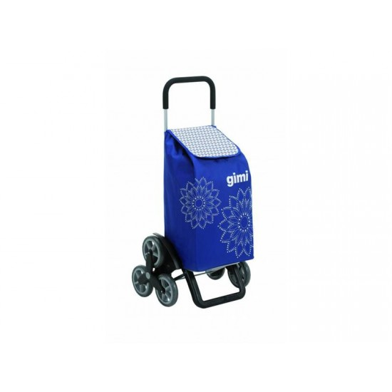 Vozík nákupný GIMI TRIS FLORAL BLUE 56L 154312