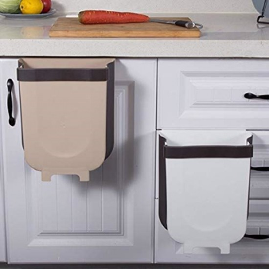Kôš odpadkový 4L bielo-hnedý závesný