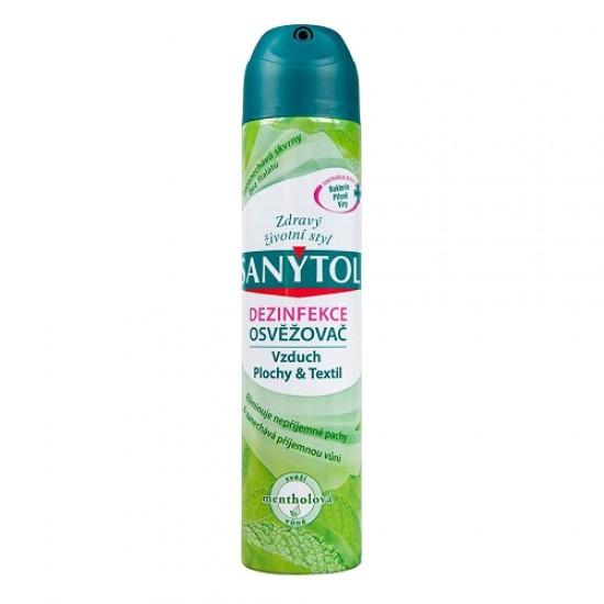 Dezinfekčný osviežovač vzduchu SANYTOL mentolová vôňa 300ml