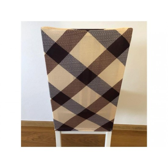 Poťah na stoličku 4L hnedý vzor