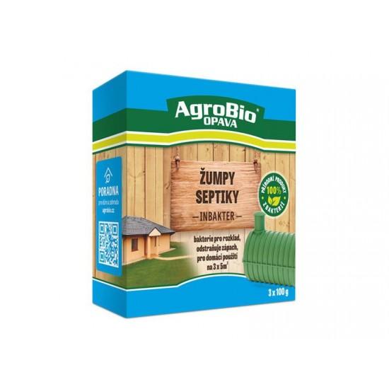Prípravok k rozkladu organických nečistôt AgroBio Inbakter Žumpy a septiky 3x100g