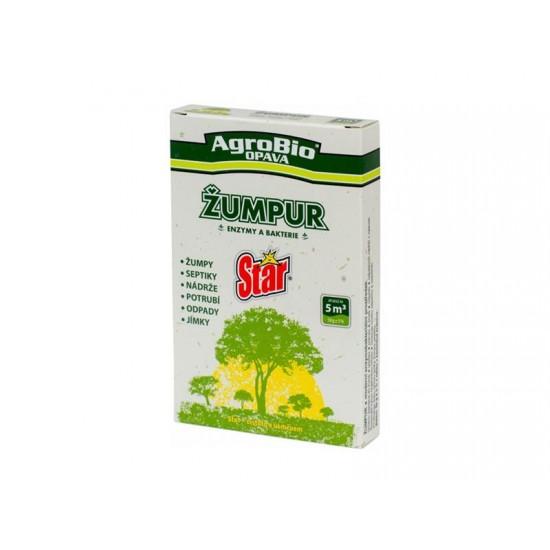 Prípravok k rozkladu organických nečistôt v potrubí a septiku AgroBio Žumpur 50g