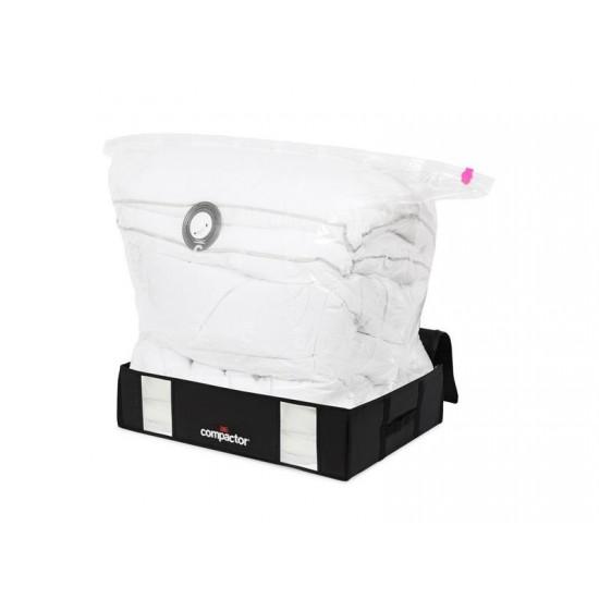 Vákuový úložný box s puzdrom Compactory 3D 145L čierny