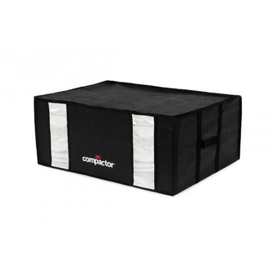 Vákuový úložný box s puzdrom Compactory 3D XXL 210L čierny