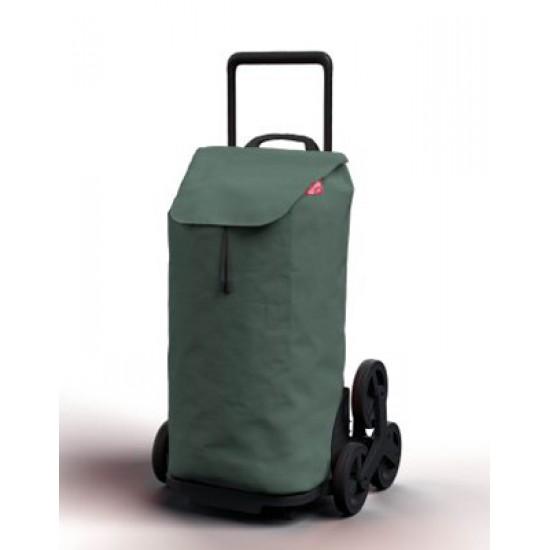 Vozík nákupný GIMI TRIS FLORAL zelený 52L 168423