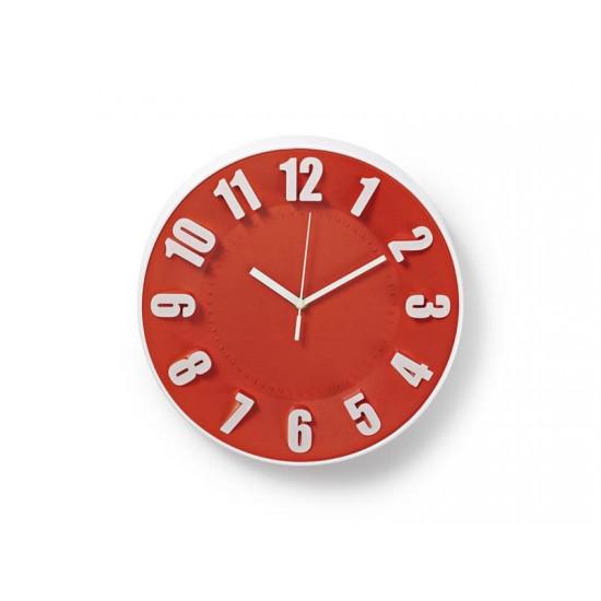 Hodiny analógové NEDIS červené CLWA012PC30RD 30 cm