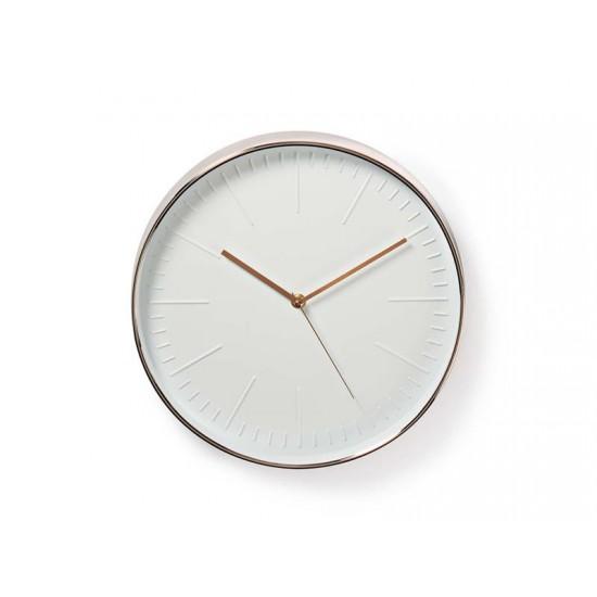 Hodiny analógové NEDIS biele/ružové zlato CLWA013PC30RE 30 cm