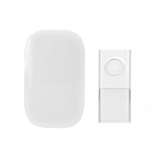 Zvonček domový bezdrôtový 1L43 do zásuvky, 150m, biely, learning code