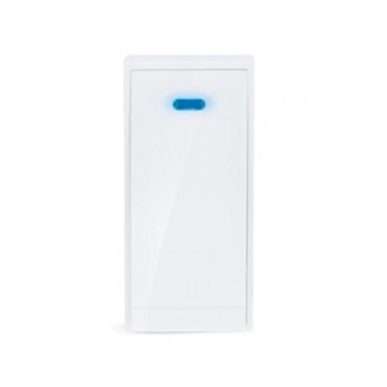 Bezdrôtové tlačidlo pre 1L51, 150m, biele, learning code, kryt na menovku