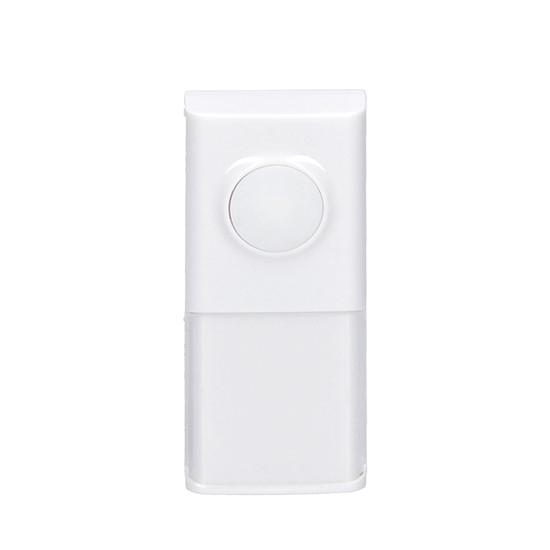 Tlačidlo zvončekové bezdrôtové pre 1L54, 1L54DZ, 1L55, 120m, biele, learning code, kryt na menovku