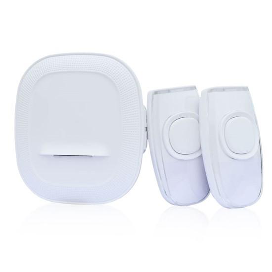 Zvonček domový bezdrôtový 1L62DT 2 tlačidlá, do zásuvky, 200m, biely, learning code