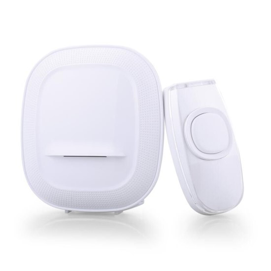Zvonček domový bezdrôtový 1L63 batériový, 200m, biely, learning code
