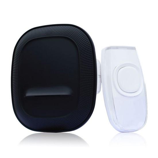 Zvonček domový bezdrôtový 1L62B do zásuvky, 200m, čierny, learning code