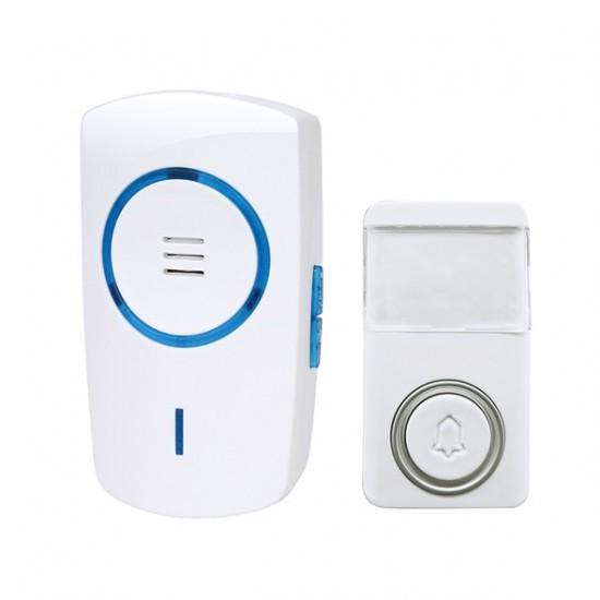 Zvonček domový bezdrôtový 1L64, bezbatériový, do zásuvky, 120m, biely, learning code