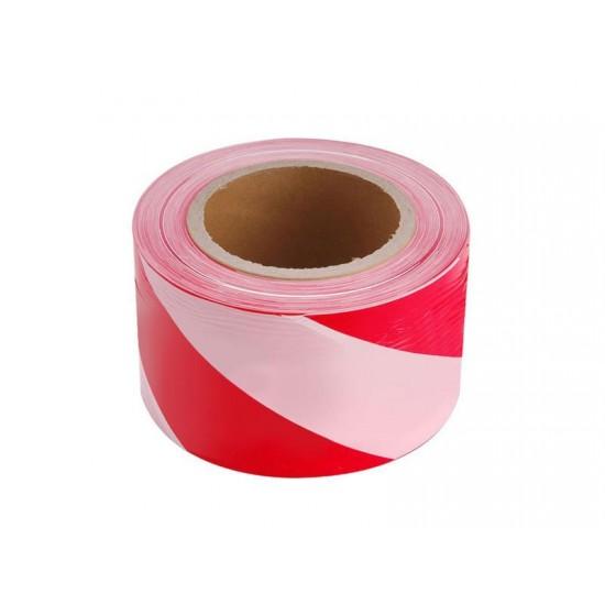 Páska výstražná červeno-biela, 75mm x 250m EXTOL CRAFT