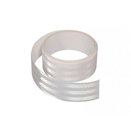 Samolepiaca páska reflexná 5m x 5cm biela (rolka 5m)