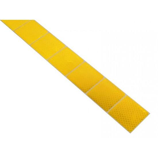 Samolepiaca páska reflexná delená 1m x 5cm žltá