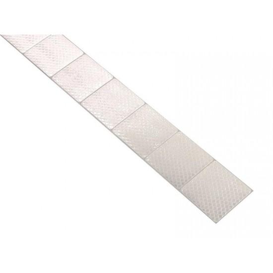 Samolepiaca páska reflexná delená 1m x 5cm biela