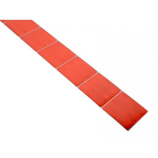 Samolepiaca páska reflexná delená 1m x 5cm červená