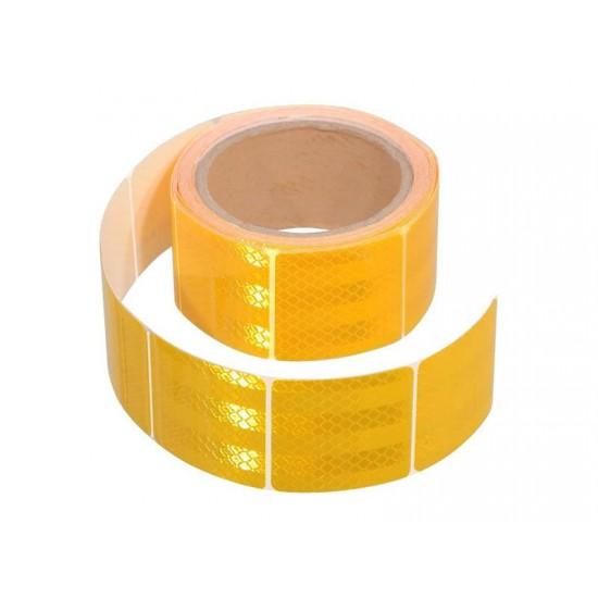 Samolepiaca páska reflexná delená 5m x 5cm žltá (rolka 5m)