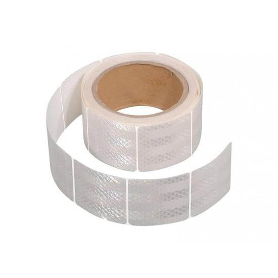 Samolepiaca páska reflexná delená 5m x 5cm biela (rolka 5m)