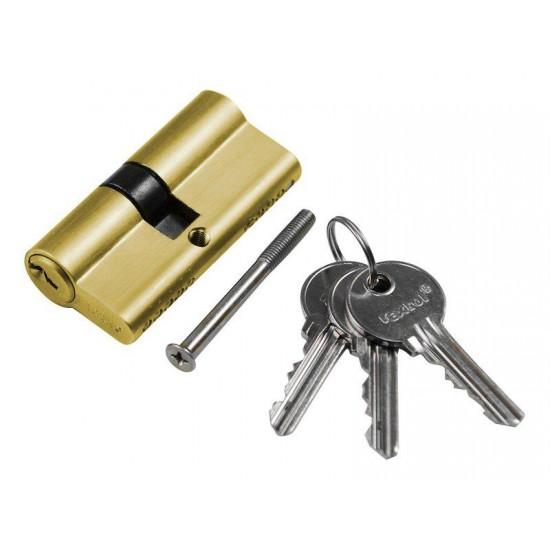 Vložka cylindrická mosadzná, 65mm, 3x kľúč, EXTOL CRAFT