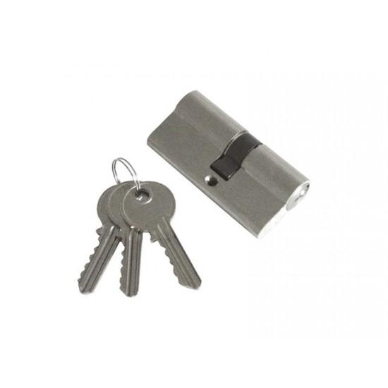 Vložka cylindrická poniklovaná, 65mm, 3x kľúč, EXTOL CRAFT