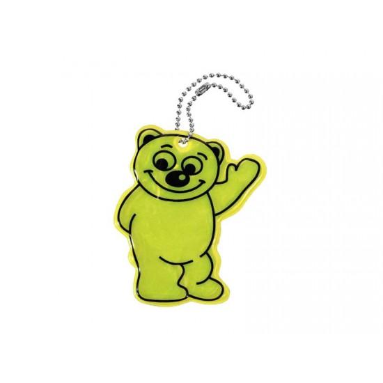 Reflexný prívesok Medveď žltý