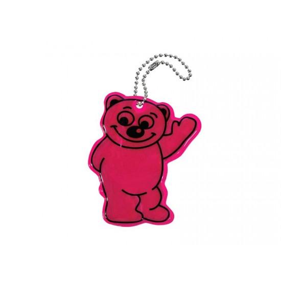 Reflexný prívesok Medveď fialový