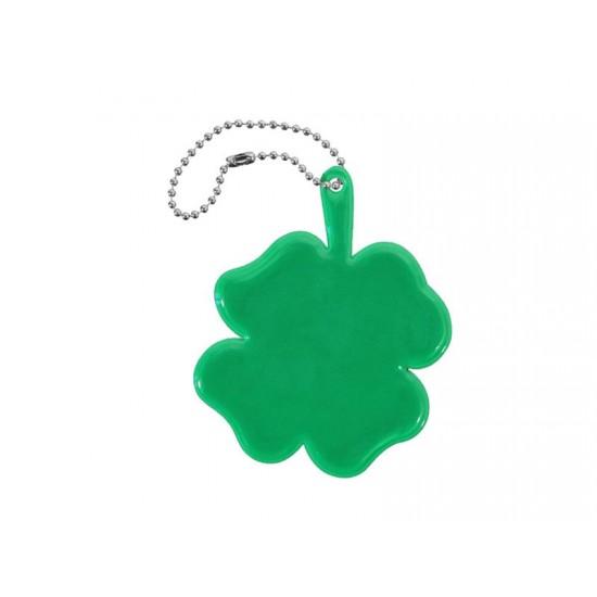 Reflexný prívesok ŠTVORLÍSTOK zelený
