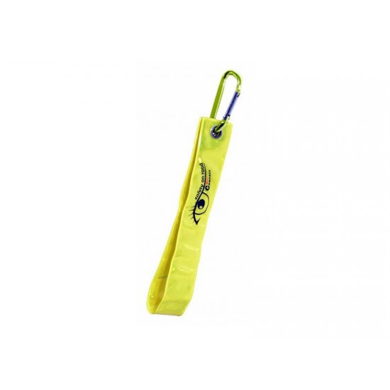 Reflexný prívesok s karabínou S.O.R. žltý