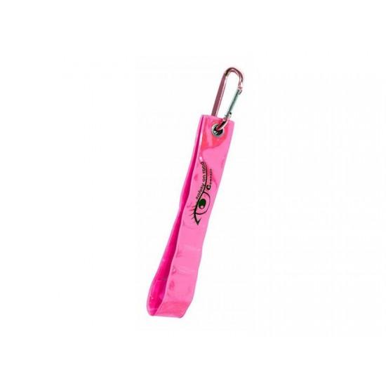 Reflexný prívesok s karabínou S.O.R. ružový
