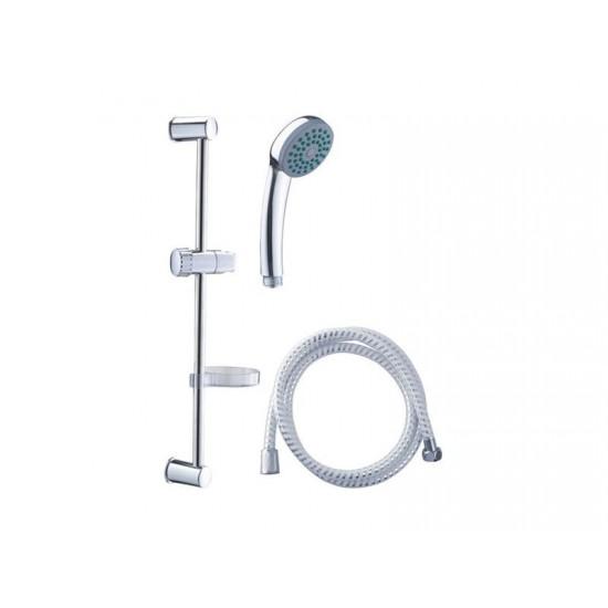 Sada sprchová veľká, 3funkčná hlavica, držiak na sp., hadica, držiak na mydlo, tyč, VIKING