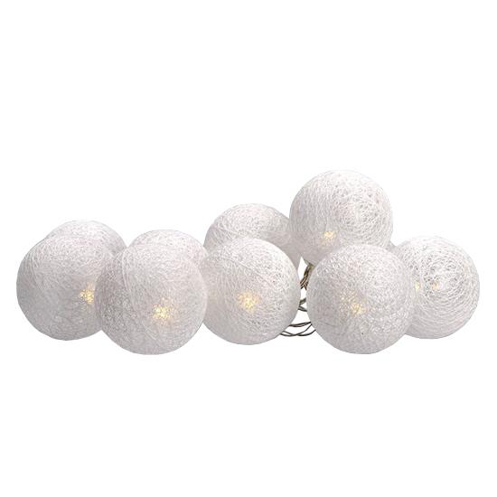 Reťaz vianočné gule bavlnené 10LED SOLIGHT 1V201
