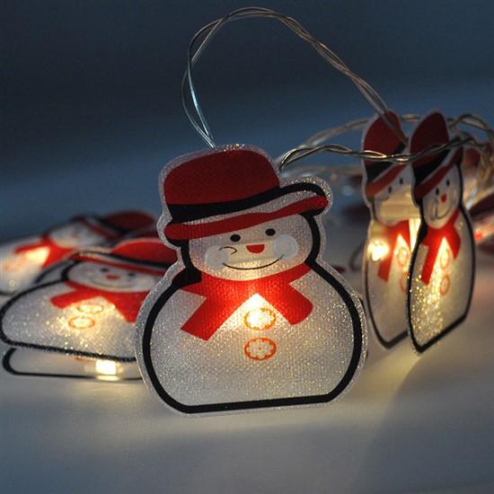 Reťaz vianočná so snehuliakmi SOLIGHT 1V206