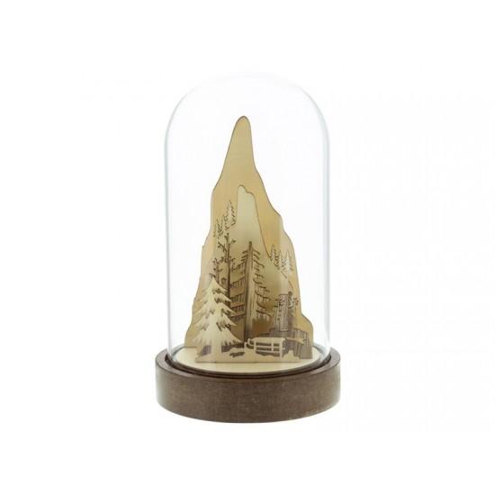 Dekorácia sklenená snehuliak 4LED RETLUX RXL 315 WW