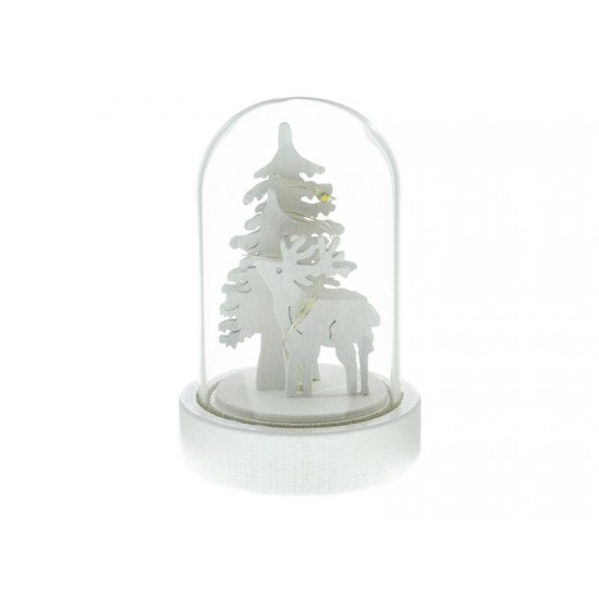 Dekorácia sklenená jeleň 1LED RETLUX RXL 320
