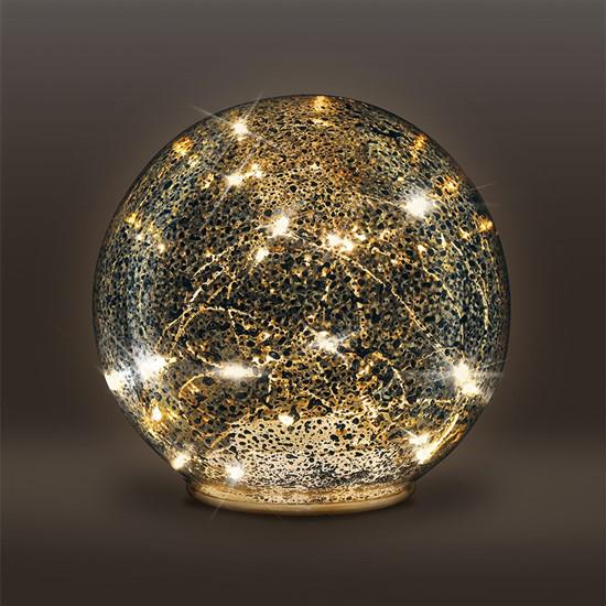 Vianočná sklenená guľa SOLIGHT 1V230